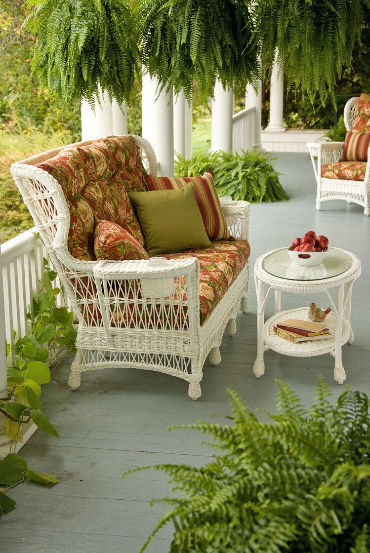 Lake House Faux Wicker Side Table Gardener S Supply