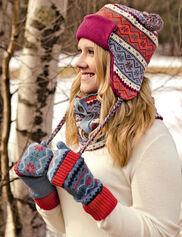 Fair Isle Hat, Gloves & Neckwarmer