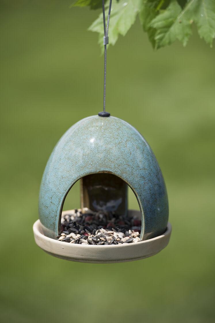 Fly Through Bird Feeder Ceramic Bird Feeder Gardeners Com