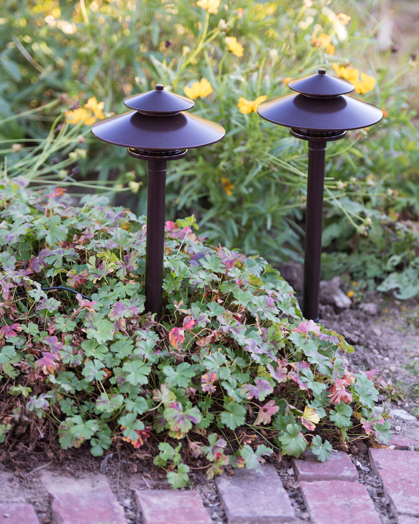 Mission Solar Path Lights Set Of 2 Gardeners Com