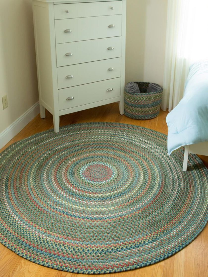 Round Braided Rugs Round Country Jewel Braided Rug 6