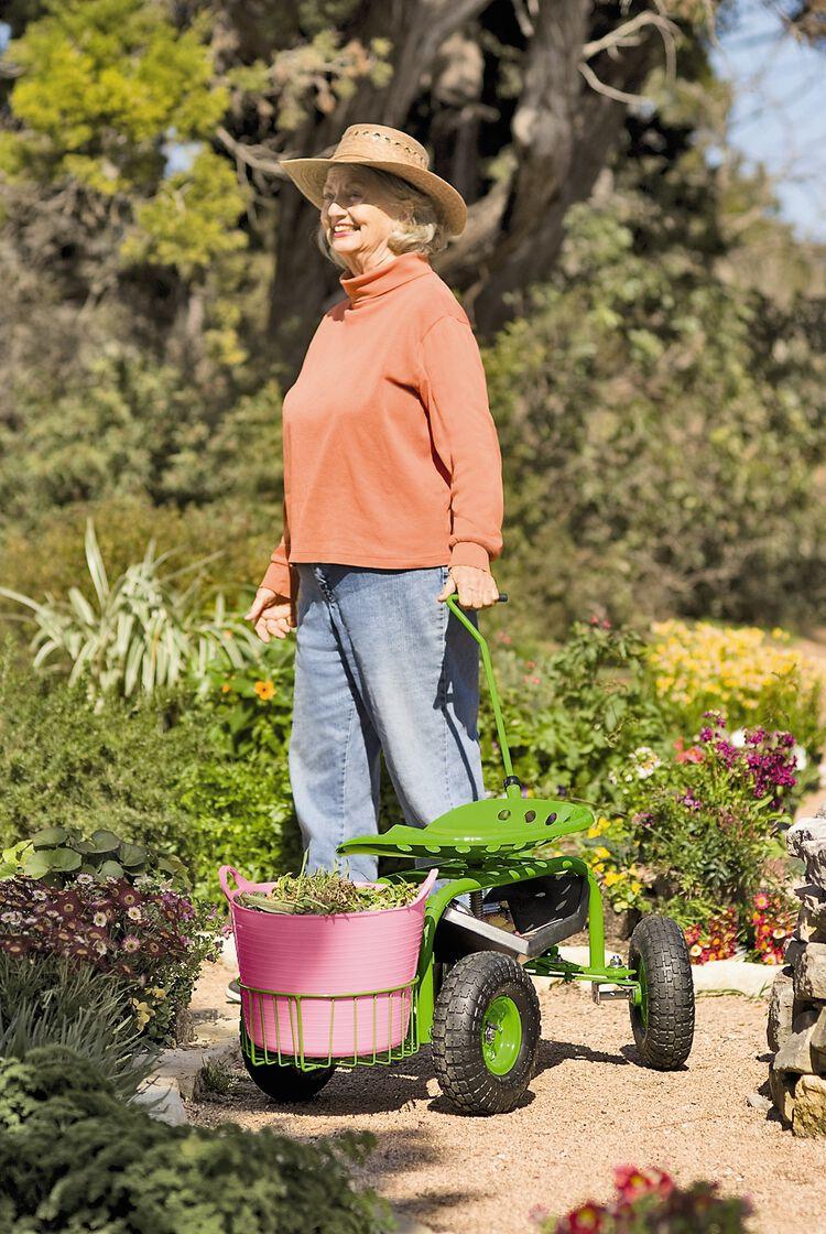 Tractor Seats In Landscape Plants : Tractor scoot rolling garden seat gardener s supply