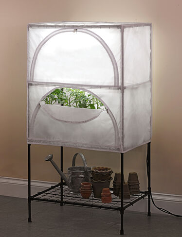 Indoor growing system t5 grow lights with stand and cover for Indoor gardening lights