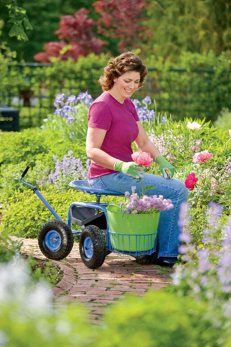 Tractor scoot rolling garden seat gardener 39 s supply for Gardeners supply burlington