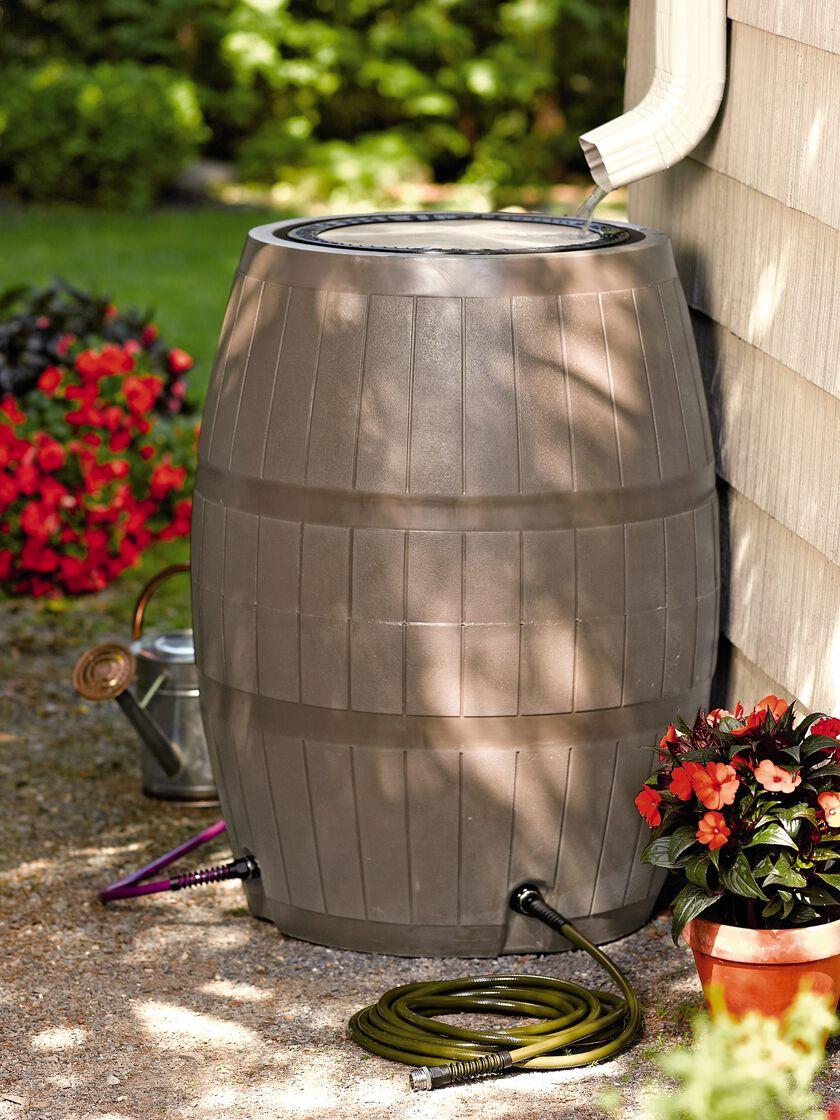 Rain Barrel 75 Gallons Rainwater Collection Gardeners Com