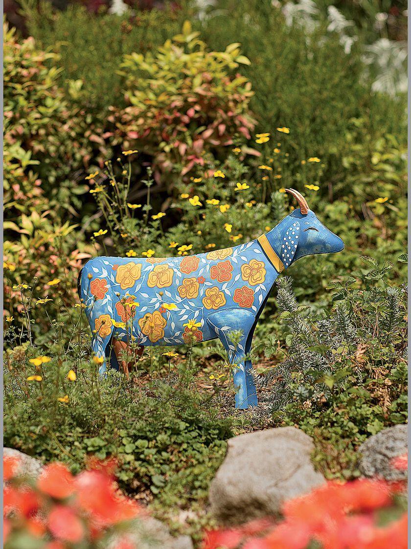 glory the goat sculpture metal yard art folk art sculpture