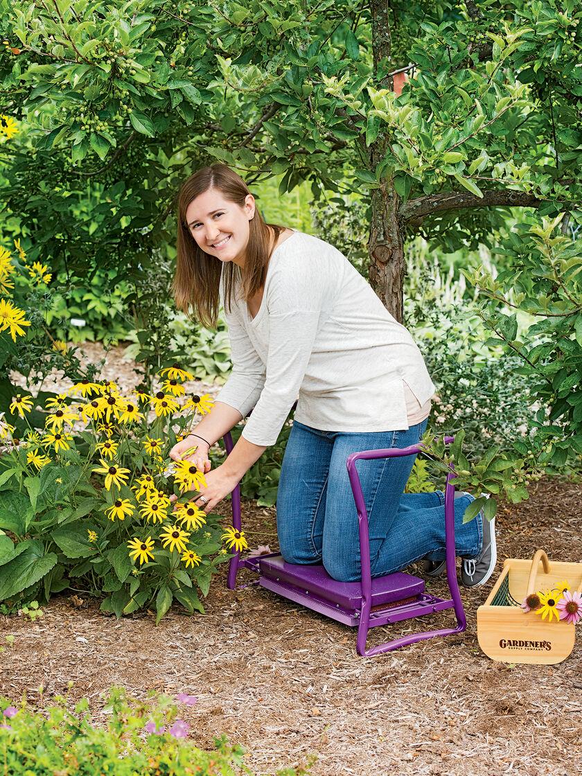 Deep seat garden kneeler gardening seat for Www gardners com