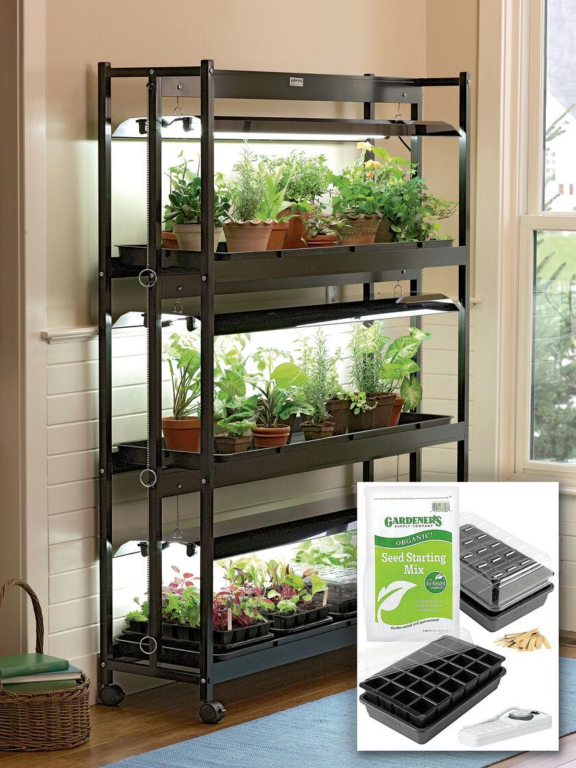 T5 Grow Lights 3 Tier Garden Starter Grow Light Kit