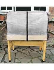 *Greenhouse Cover with Frame on Compact VegTrug Patio Garden