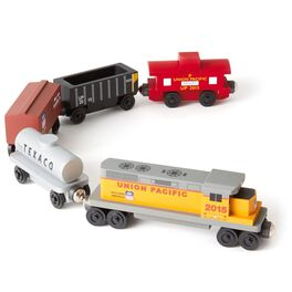 Union Pacific Freight Wooden Train Set, , large