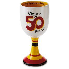 50th Birthday Wine Goblet, , large