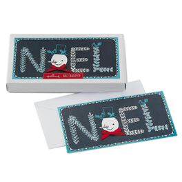 NOEL With Snowman Face Boxed Christmas Cards, , large