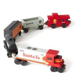 Santa Fe Freight Wooden Train Set, , large