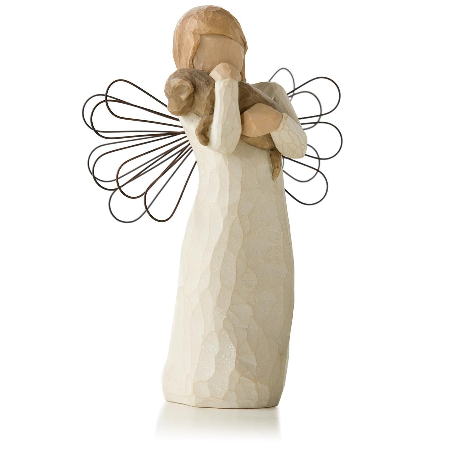 Willow tree angel of friendship animal lover figurine for Angels decorations home