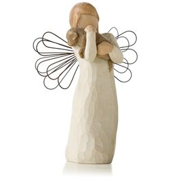 Willow Tree® Angel of Friendship Animal Lover Figurine, , large
