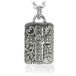Peaceful Cross Necklace, , large
