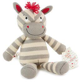 Zoe the Zebra Knitted Stuffed Animal, , large