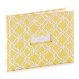 Yellow Patterned Guest Book, , large