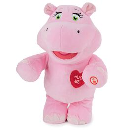 Hug-Lovin' Hippo Interactive Stuffed Animal, , large