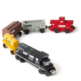 Norfolk Southern Freight Wooden Train Set, , large