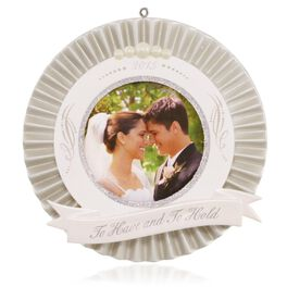 Our Wedding Photo Holder Ornament, , large