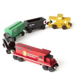 Canadian Pacific Freight Wooden Train Set, , large
