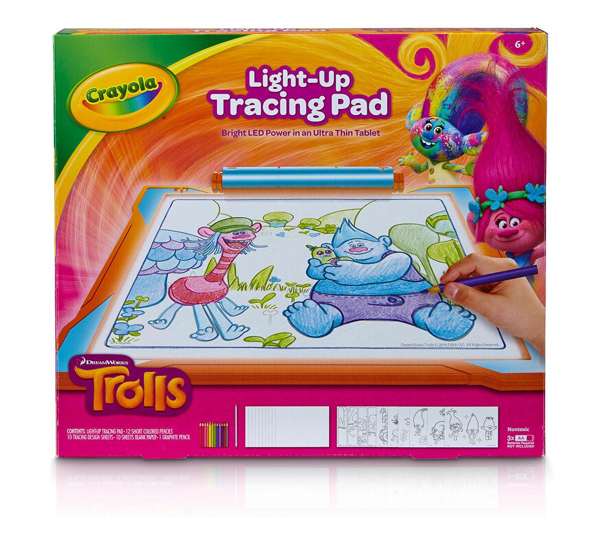 Crayola Trolls Light Up Tracing Pad 04 6927 Ebay