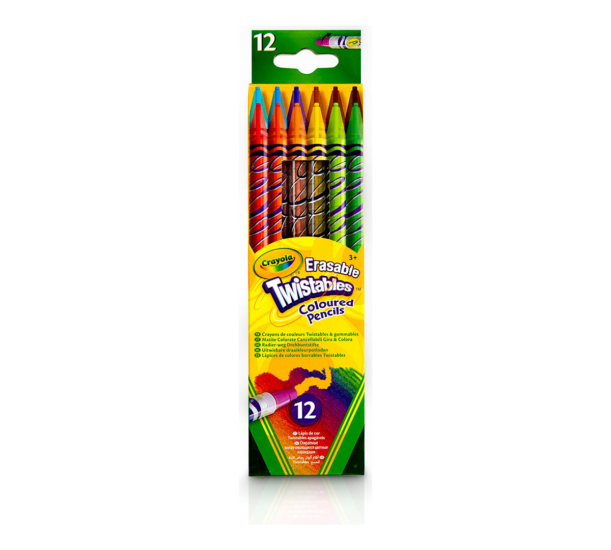 Crayola Erasable Twistables Colored Pencils, 12 Count 68 ...