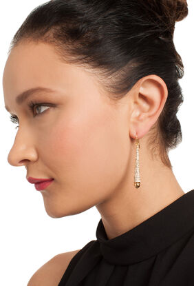 PAVE CONE DROP EARRING