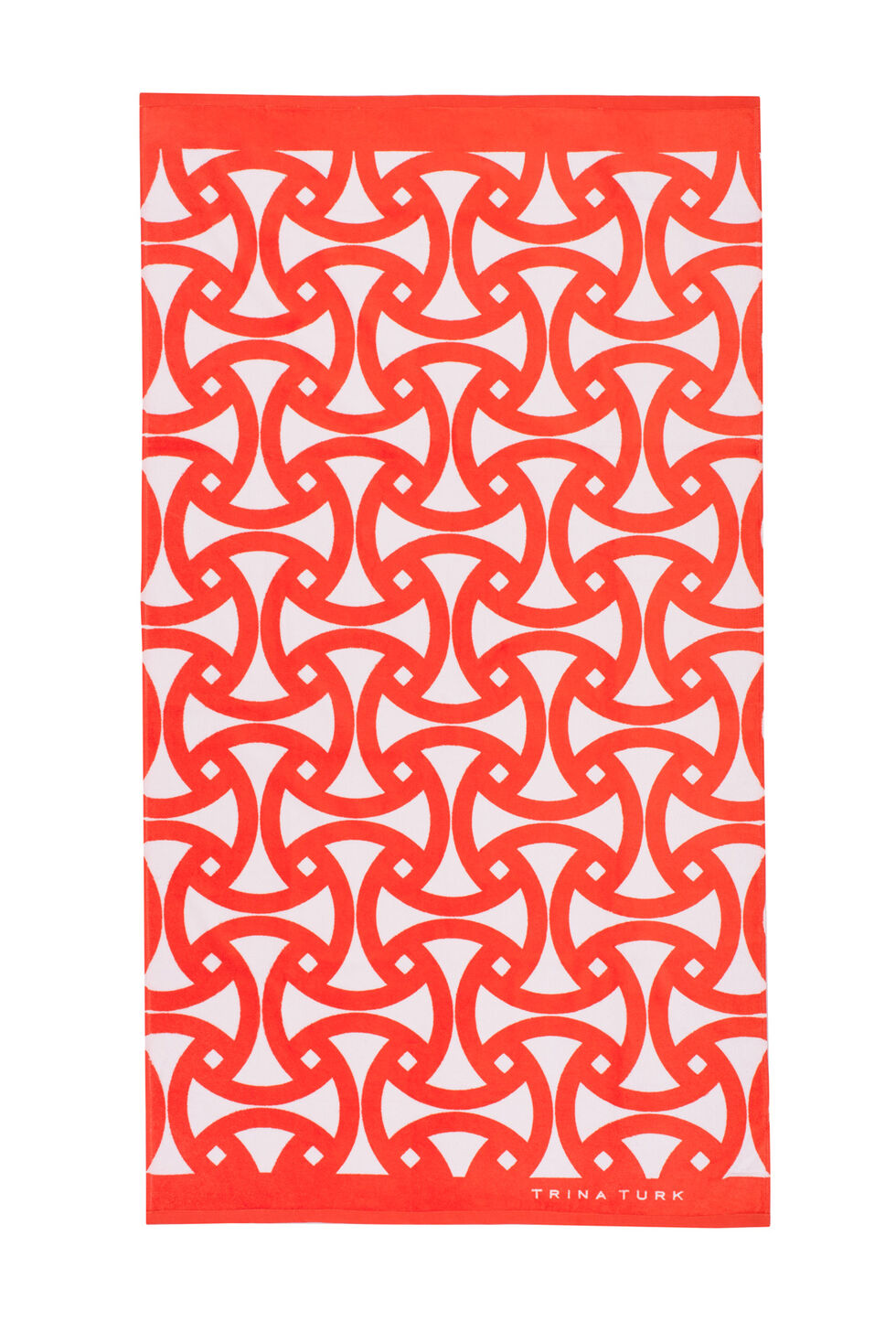 Trina Turk Santorini Beach Towel - Orange - Size O/S