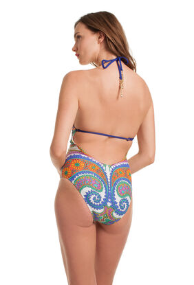 PACIFIC PAISLEY HIGH NECK ONE PIECE