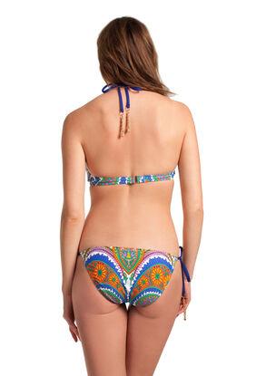 Pacific Paisley Tie Front Bikini Set