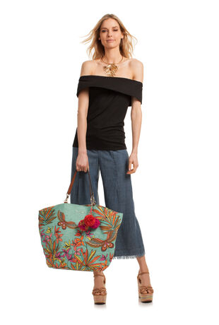 PAPILLION PALM SUNKISSED TOTE