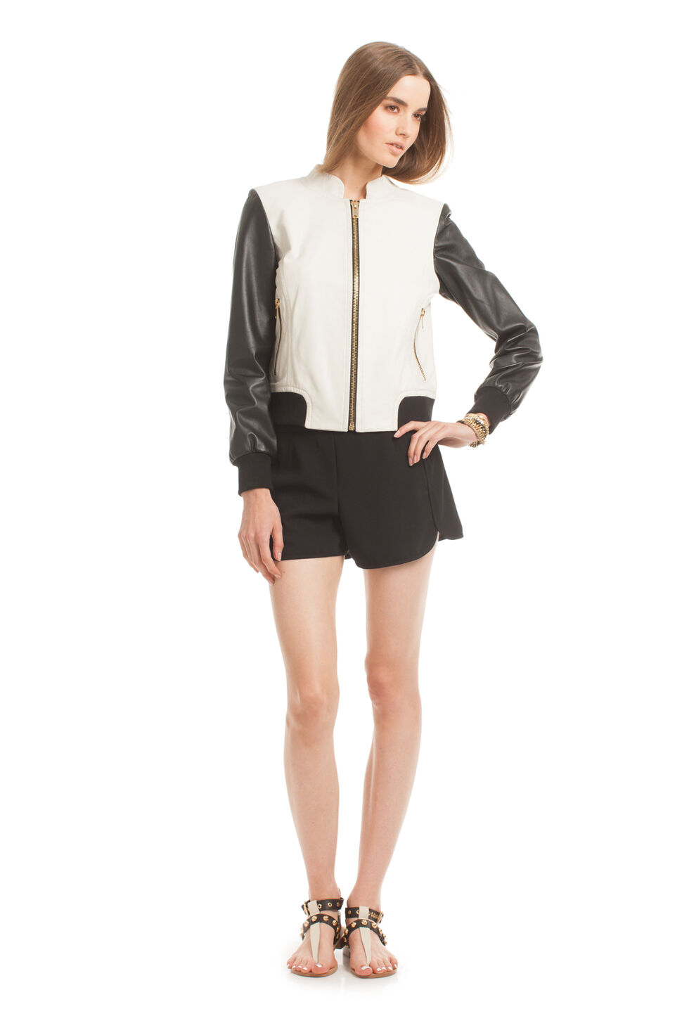 Joanna Bomber Leather Jacket