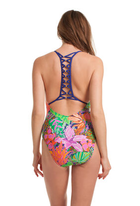 TROPIC ESCAPE V-PLUNGE ONE PIECE