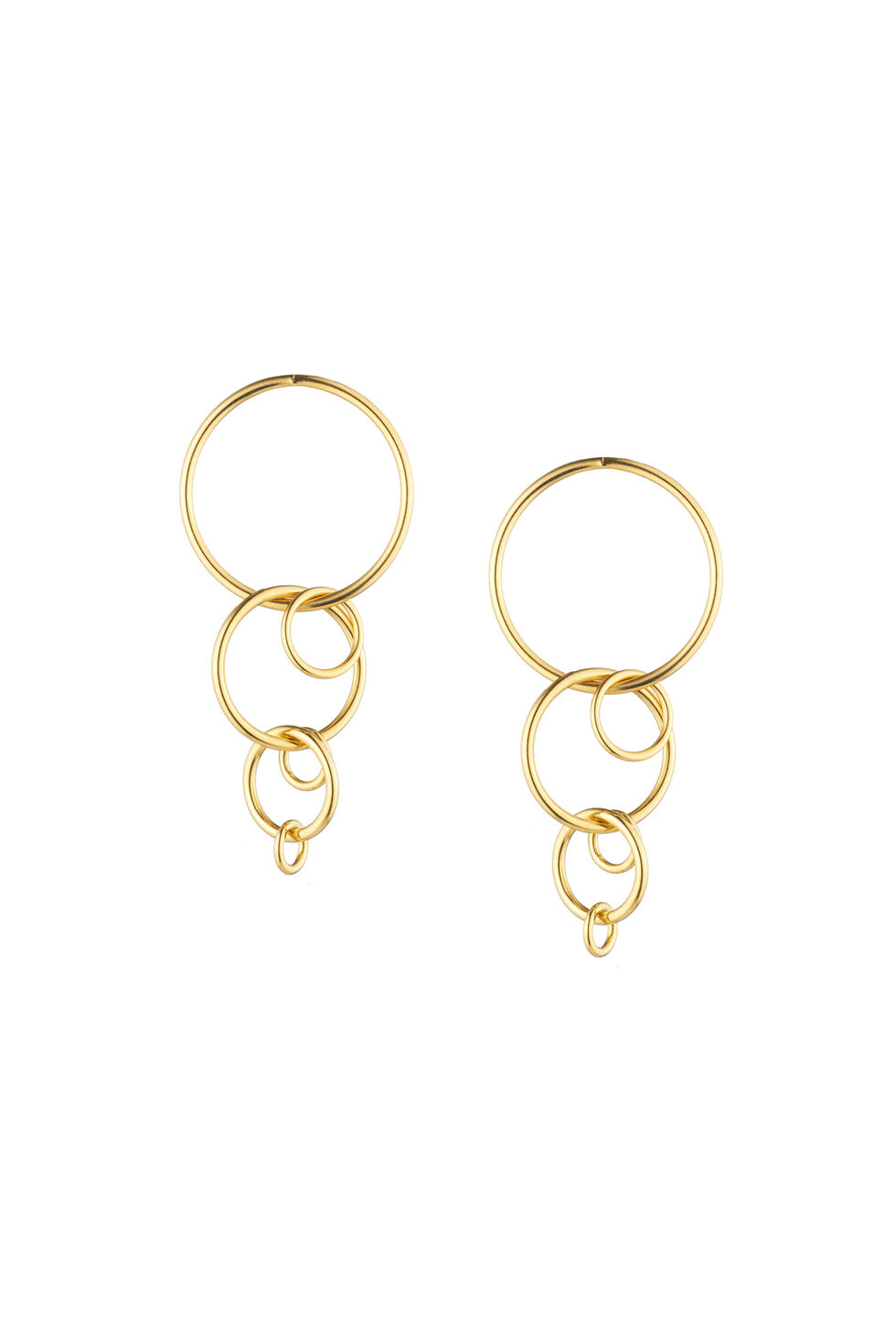 Trina Turk Hollywood Hills Linear Link Earrings - Gold - Size Fit