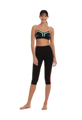 COLOR BLOCK HIGH WAIST CAPRI LEGGING