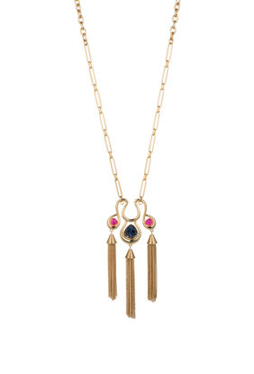 HOLLYWOOD HILLS TASSEL PENDANT NECKLACE