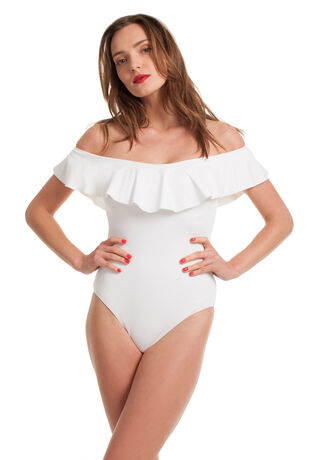 GYPSY SOLIDS OFF THE SHOULDER ONE PIECE