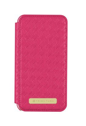 Iphone 7 Plus - Basket Weave Folio Fuchsia
