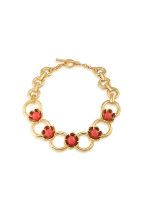 WILDFLOWER FLOWER COLLAR NECKLACE
