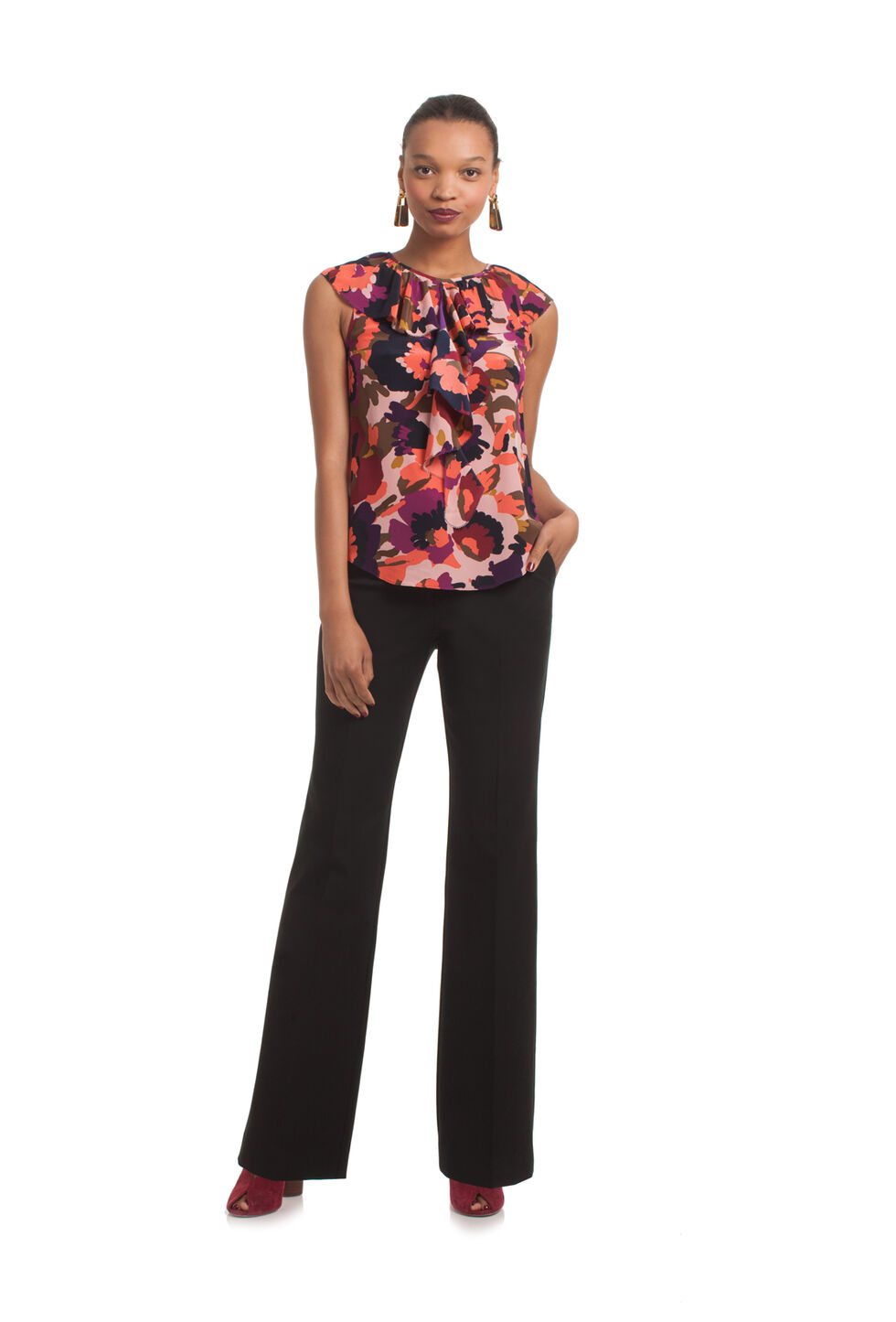 Trina Turk Thorn Top - Multicolor - Size Fit Guide