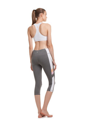 COLOR BLOCKED HIGH WAIST CAPRI LEGGINGS