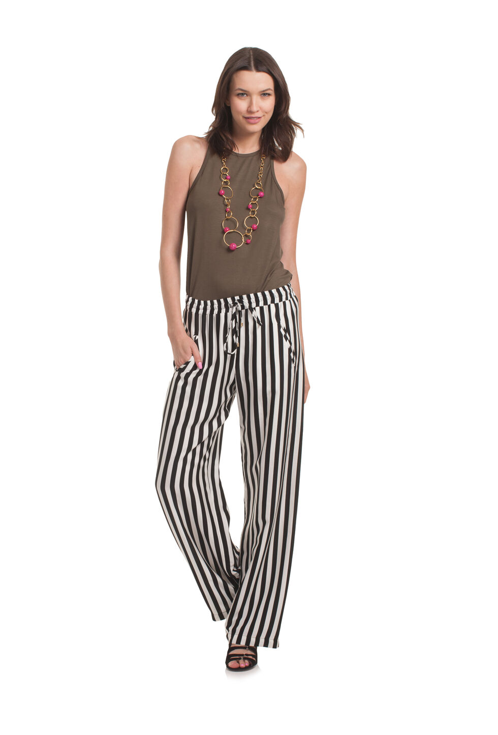 Trina Turk Adonia Pant - Black/White - Size Fit Guide