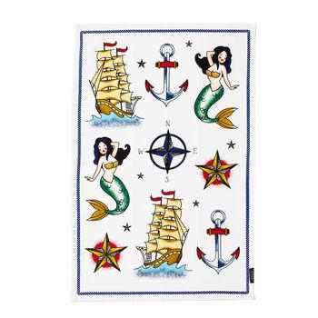 Nautical Flash Art Tea Towel