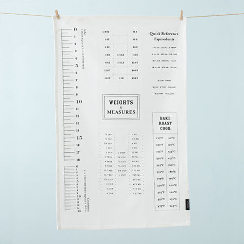 Conversion Tables Tea Towel