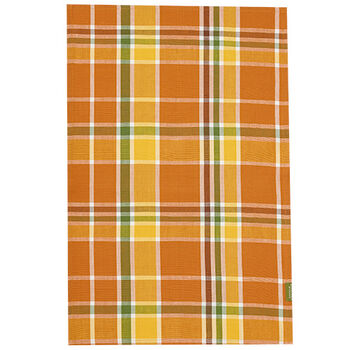 Plaid Harvest Tea Towel