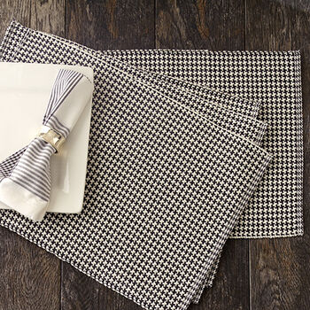 Pewter Houndstooth Placemats