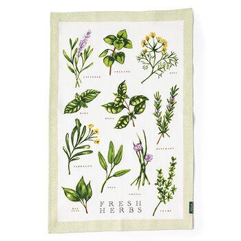 Fresh Herb Tea Towel
