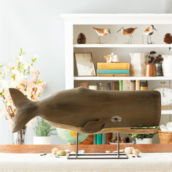 Whale on stand
